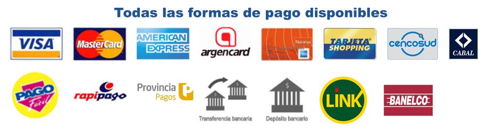 Formas de pago disponibles